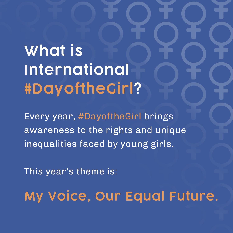What is International #DayoftheGirl? Infographic